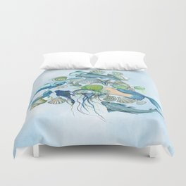 Atlantis Underwater World Duvet Cover