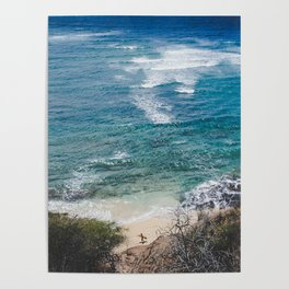 Surfer meets Sea - Diamond Head / Oahu / Hawaii Poster