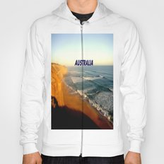Sunset glowing on the limestone Cliffs Hoody
