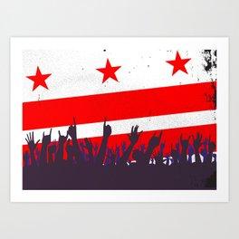 Washington DC Flag with Audience Art Print