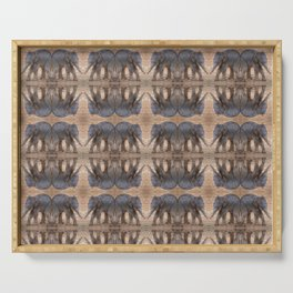 Pattern of Baby Elephants Serving Tray