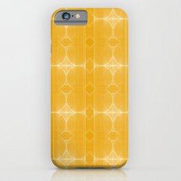 Retro Yellow Imperfect Circles - Modern Geometric Pattern iPhone Case