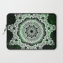 Mandala Emerald Spirit Spiritual Zen Bohemian Hippie Yoga Mantra Meditation Laptop Sleeve