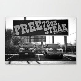 Free Steak Canvas Print