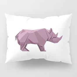 Origami Rhino Pillow Sham