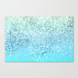 Seafoam Aqua Ocean MERMAID Girls Glitter #1 #shiny #decor #art #society6 Canvas Print
