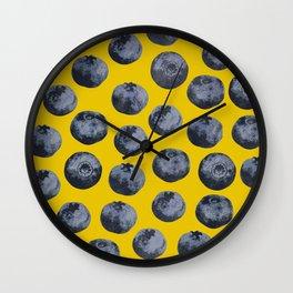 Blueberry pattern Wall Clock