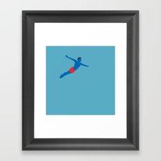Flying man Framed Art Print