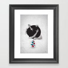 Something in Progress Framed Art Print