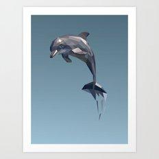 Geometric Dolphin Art Print