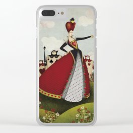 Off with their heads Queen of hearts from Alice in Wonderland Clear iPhone Case