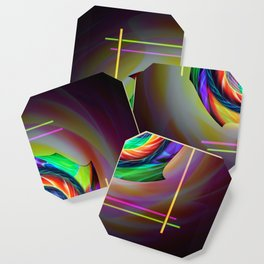Abstract in perfection 121 Coaster