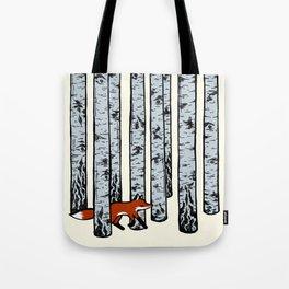 Fox in the Birches Tote Bag