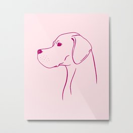 English Pointer (Pink and Berry) Metal Print
