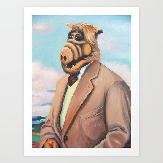 Professor Alf Art Print