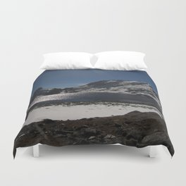 Buddhist Mountain Lakes of Langtang Duvet Cover