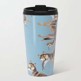 Totem Coastal wolf (c) 2017 Metal Travel Mug