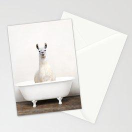 llama in a Vintage Bathtub (c) Stationery Cards