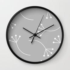 CUTE FLOWER PATTERN - GRAY Wall Clock
