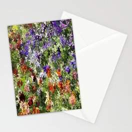 Floral Pansy Abstract Stationery Cards