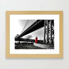 The Little Red Lighthouse - George Washington Bridge NYC Framed Art Print