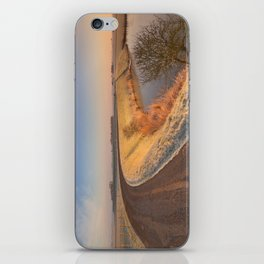II - Typical Dutch landscape with a dike, in winter at sunrise iPhone Skin