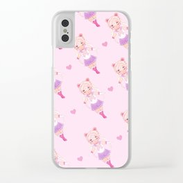 Sailor Moon Pattern Clear iPhone Case