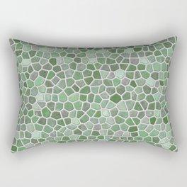 Mint Green Faux Mosaic Rectangular Pillow