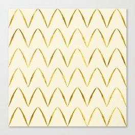 Cream Gold Foil 05 Canvas Print