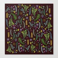 Dark and Wild Ferns Canvas Print
