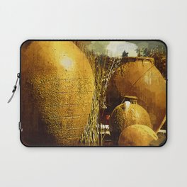 Golden Large Fountain Urns Laptop Sleeve