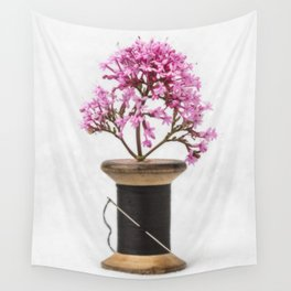 Wooden Vase Wall Tapestry