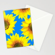 Sunny Sunflowers with blue sky - summer mood - #Society6 #buyart Stationery Cards