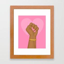 Black Lives Matter Power Fist Framed Art Print