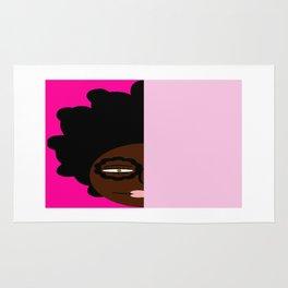 bbnyc's geeky girl on pink (delaney) Rug