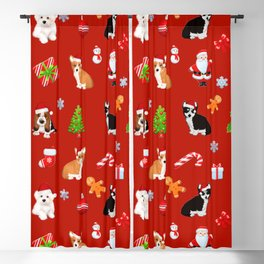 Christmas puppies  pattern decor.Dog lover decor Blackout Curtain