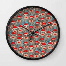 Santa Reindeers Wall Clock
