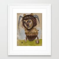 beastie boys Framed Art Prints featuring Beastie by busymockingbird