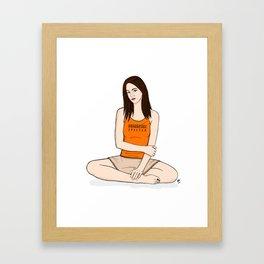 Interpretive Girl Framed Art Print