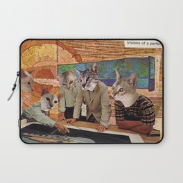 Cats Discuss a Project Laptop Sleeve