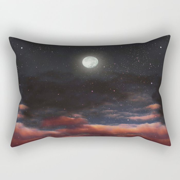 Dawn's moon Rectangular Pillow