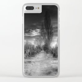 Ghostly Kensal Green Cemetery London Clear iPhone Case