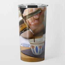 Pouring Turkish coffee Travel Mug