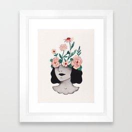 Flower head Framed Art Print