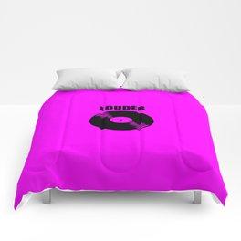 louder music logo Comforters