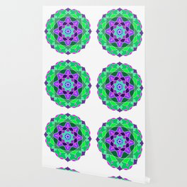 Mandala in nostalgic colors Wallpaper