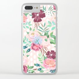 floral xii Clear iPhone Case