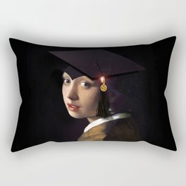 Girl with the Grad Cap Rectangular Pillow