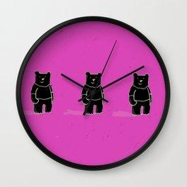 Cute! Bears, bears, bears! Wall Clock