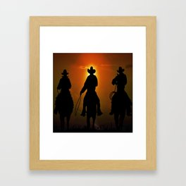 Riders To The West Framed Art Print